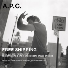 A.P.C ships you a babe for free