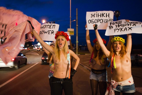 Ukrainian feminist protest group FEMEN are at it again