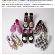 Win a FREE Pair of Hello Kitty x Vans!