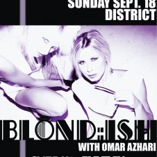 BLOND:ISH @ DISTRICT BOSTON SUNDAY SEPT 18TH