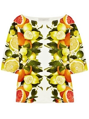 fruit print top