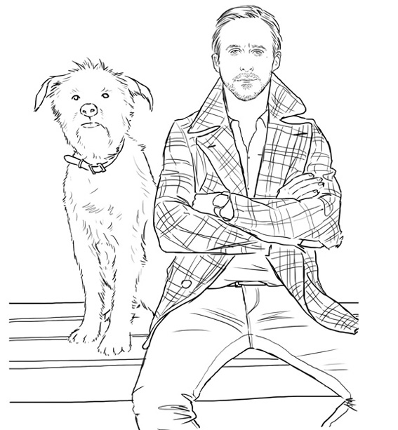 discovered via refinery 29 bill murray coloring book - Bill Murray Coloring Book