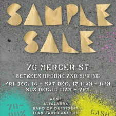 Opening Ceremony Sample Sale