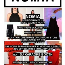 Nomia S/S '13 Video Launch Party