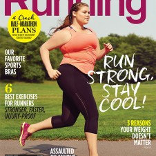 First Plus-Size Model Featured on the Cover of Women's Running Magazine